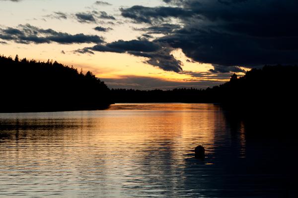 Solnedgång vid Gällnö